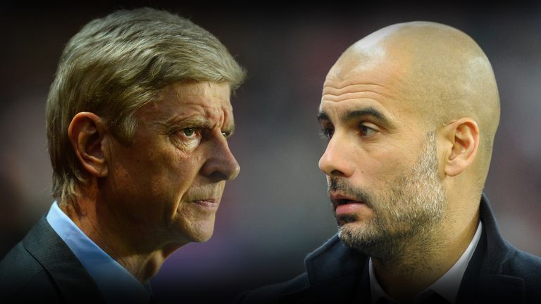 Image result for pep guardiola and arsene wenger