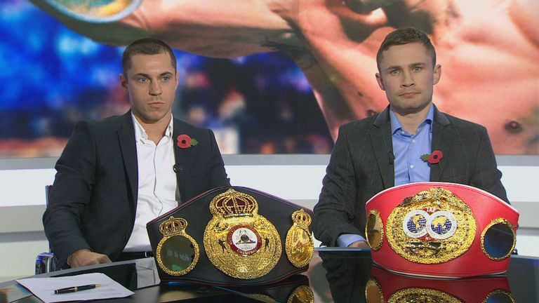 Scott Quigg (left) will face Carl Frampton in a world title unification clash next month
