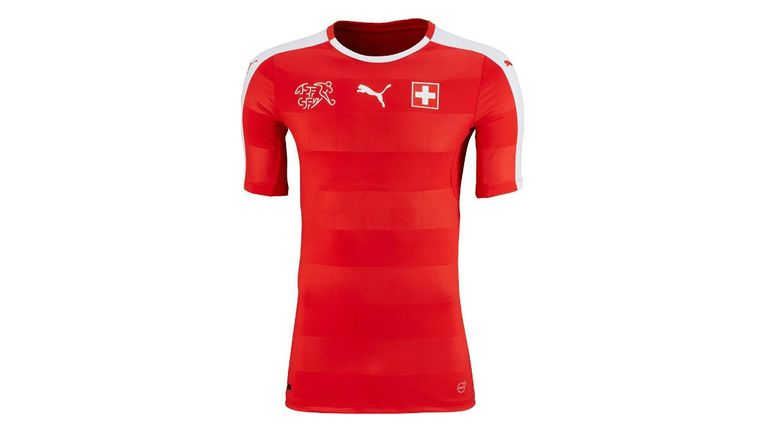 Switzerland's Euro 2016 kit features subtle horizontal stripes