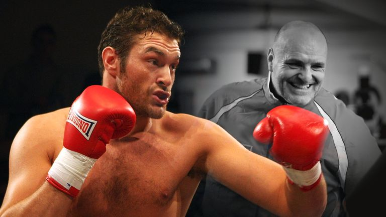 Tyson Fury (left) was told to only fight inside the boxing ring by his father