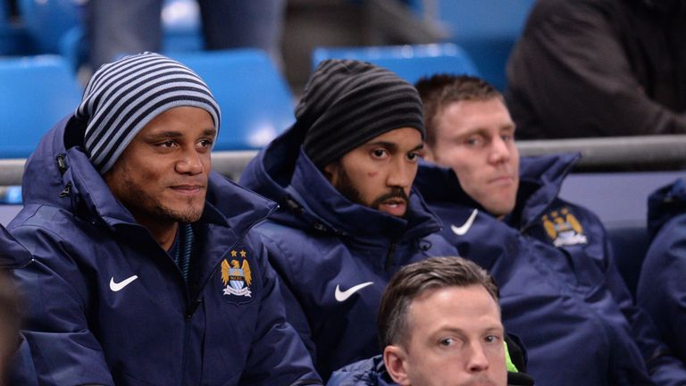 Manchester City centre-back Vincent Kompany is currently out with a calf problem
