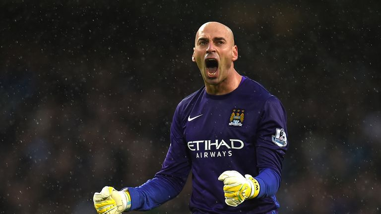 Willy Cabellero will start for Manchester City