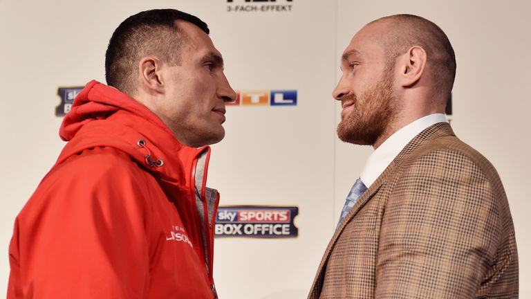 Negotiations are ongoing for a rematch between Tyson Fury (R) and Wladimir Klitschko (L)