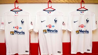 Hamilton labelled up 20 France second kits for their match against Aberdeen