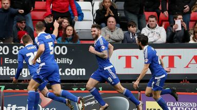Daryl Murphy (middle) scored twice for Ipswich