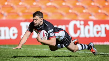 Elliot Kear in action for London Broncos