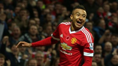 Jesse Lingard, who scored his first goal for Manchester United on Saturday, is one of six club-trained players at the club