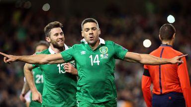 Jonathan Walters celebrates scoring Republic of Ireland's opening goal