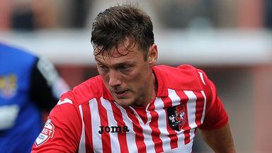 Lee Holmes: Looking to extend his Exeter City  scoring streak