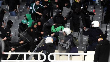 Greek riot police have frequently had to be deployed at matches in recent years