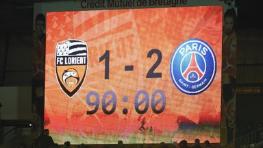 PSG were 2-1 winners at Lorient on Saturday evening