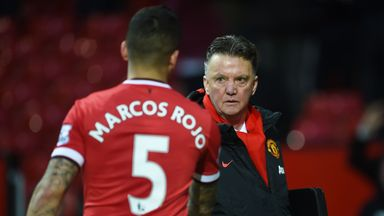 Marcos Rojo has played down talk of a rift with Manchester United manager Louis van Gaal