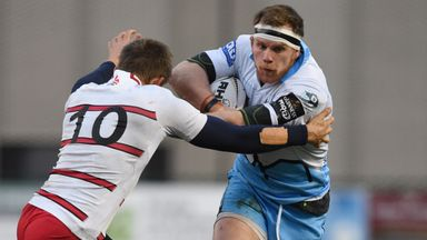 Glasgow's Chris Fusaro starts at openside flanker against Treviso
