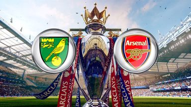 Norwich host Arsenal on Super Sunday, live on Sky Sports 1 HD from 3.30pm