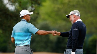 Tiger Woods and Darren Clarke practiced together ahead of this year's Masters