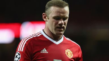 Wayne Rooney walks off after the Champions League match between Manchester United and PSV Eindhoven