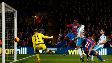 Yannick Bolasie (middle) scored twice as Crystal Palace beat Newcastle
