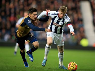 Hector Bellerin keeps track of James McClean