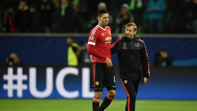 Chris Smalling is one of 11 Manchester United players sidelined by an injury