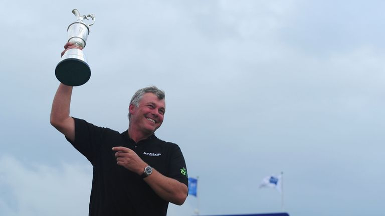 Clarke was a popular winner at Royal St George's