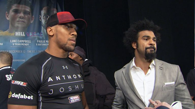 Are Anthony Joshua (left) and David Haye on a collision course?