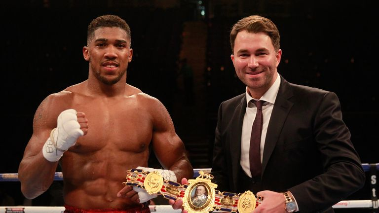 Promoter Eddie Hearn admits Joshua is taking a risk in his first world title shot