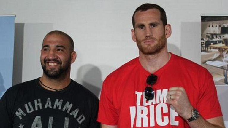 Erkan Teper (left) and David Price fought in July 2015