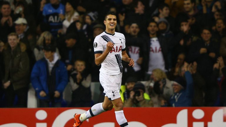 Erik Lamela has scored five Europa League goals this season