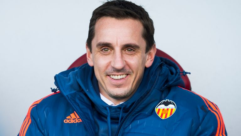 Gary Neville: Goes head-to-head with Rafael Benitez on Sunday