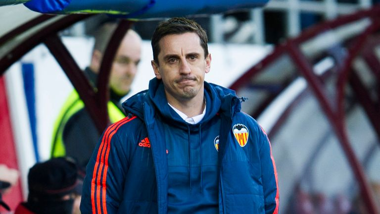 Valencia's head coach Gary Neville remains without a La Liga win at the club