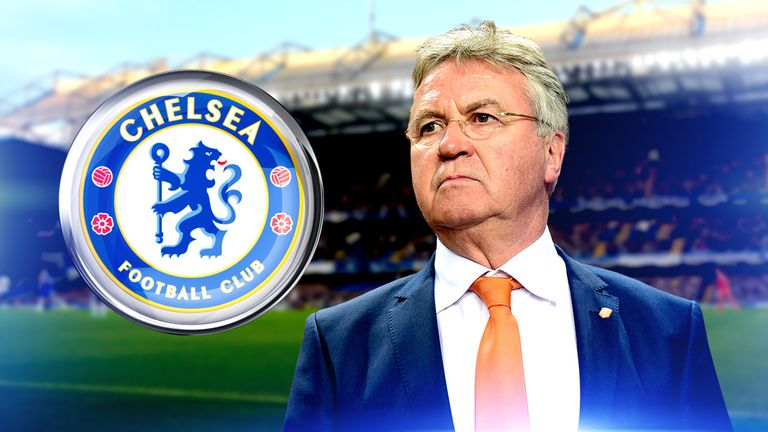 Guus Hiddink took over from Jose Mourinho at Stamford Bridge