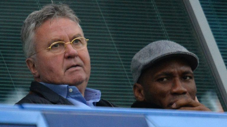 Didier Drogba watched Chelsea beat Sunderland alongside Guus Hiddink before Christmas