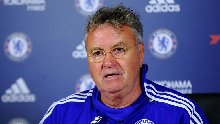 Hiddink has a contract with the Blues until the end of the season