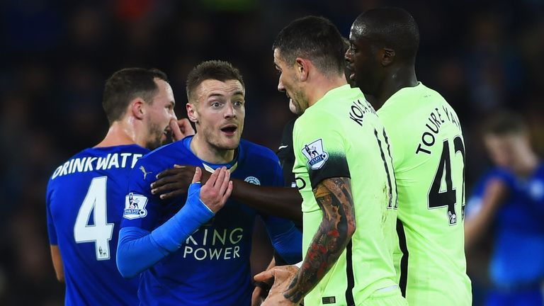 Jamie Vardy could cause Manchester City problems at the Etihad