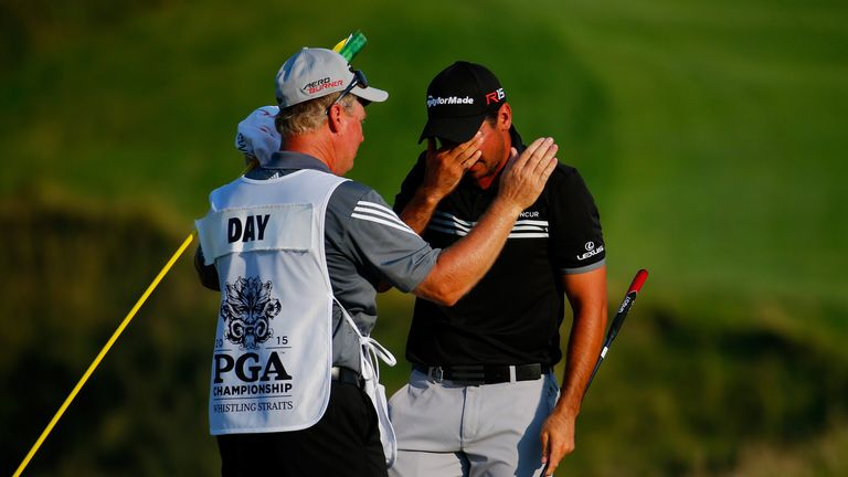 Swatton has caddied for Day his entire career, winning the PGA Championship together in 2015