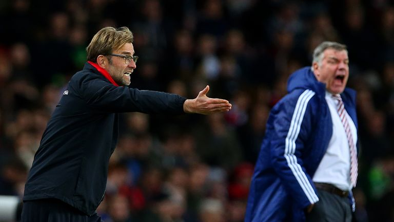 Jurgen Klopp and Sam Allardyce clashed during Liverpool's victory at Sunderland
