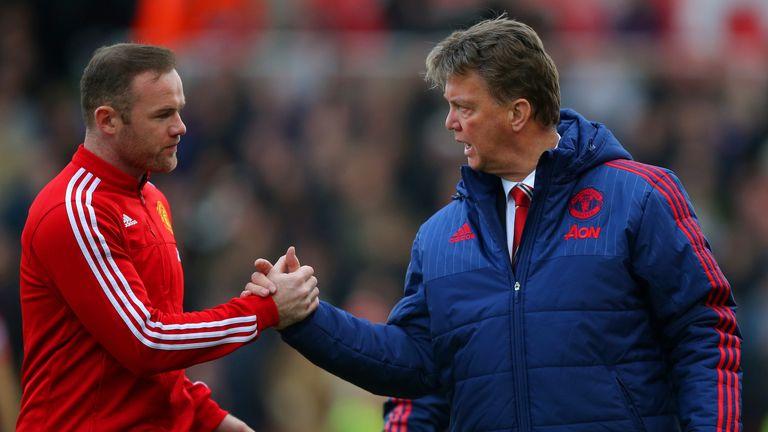 Louis van Gaal (right) was proud of Wayne Rooney's leadership against Liverpool