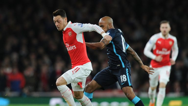 Mesut Ozil put in a man-of-the-match performance against Manchester City