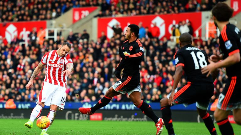 Stoke heaped the pressure on United with a 2-0 Boxing Day win at the Britannia