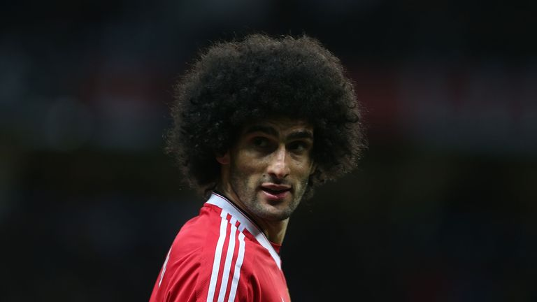 Manchester United midfielder Marouane Fellaini is a transfer target for AC Milan