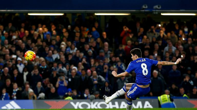 Chelsea's Oscar slipped and missed a penalty with 10 minutes to play