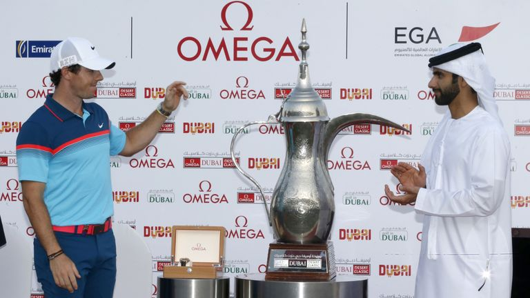 McIlroy eased to a comfortable three-shot win at the 2015 Dubai Desert Classic