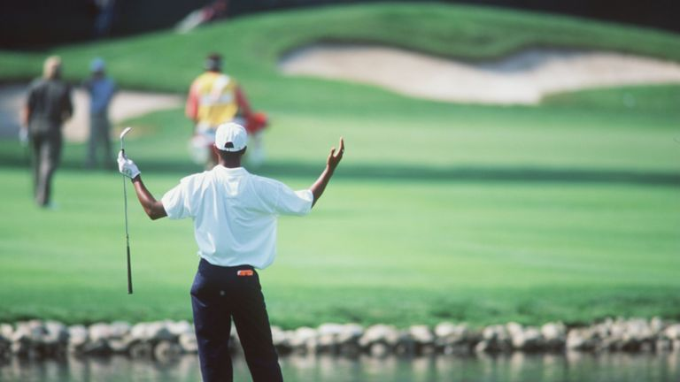Tiger Woods made an impression in majors even as an amateur, making the US Open cut in 1996