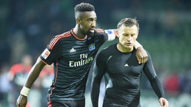 Ivica Olic (right) has only featured as a substitute in the Bundesliga this season