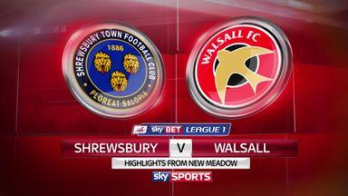 Shrewsbury1-3 Walsall