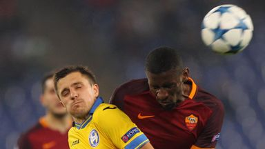 Roma have signed German defender Antonio Rudiger (right) from Stuttgart after making his loan move permanent.