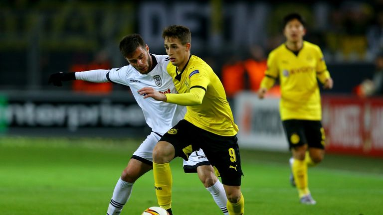 Januzaj last played for Dortmund against PAOK in the Europa League