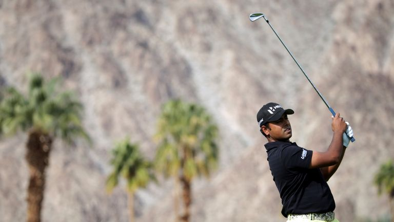 Lahiri is part of a four-way tie on eight under in Calfornia