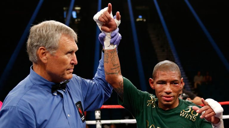 Ashley Theophane (right) after beating Steve Upsher in September