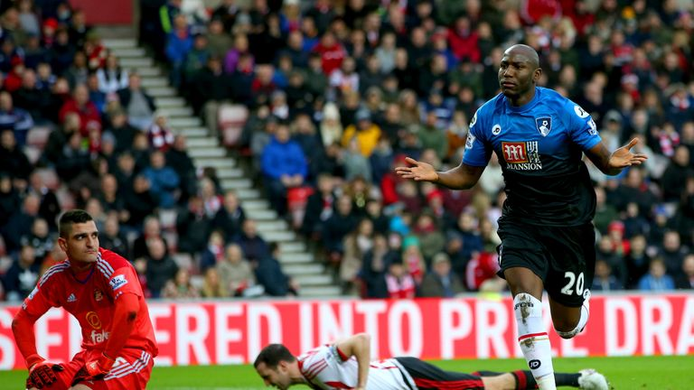 Benik Afobe gave Bournemouth the lead at the Stadium of Light